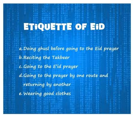 Etiquette of Eid