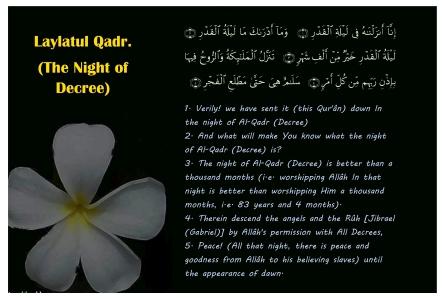 Laylatul Qadr Verses