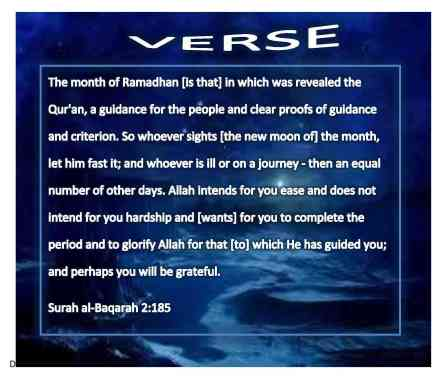 Verse on Ramadhan