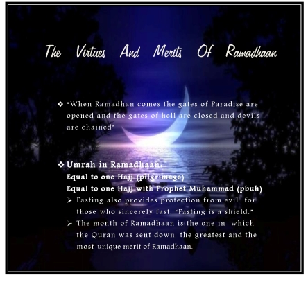 Virtues and Merits of Ramadhan1