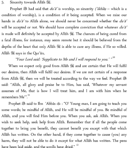 Etiquette of Making Dua4
